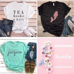 Tops - ✨Bundle of Mermaid, Purpose & Reading Tee